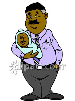African American Dad Clipart.
