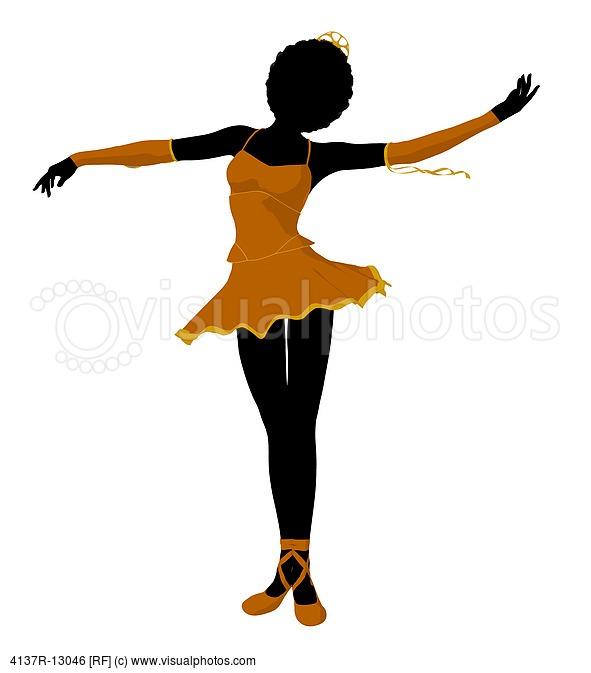 African American Ballerina Silhouette Clip Art N2 free image.