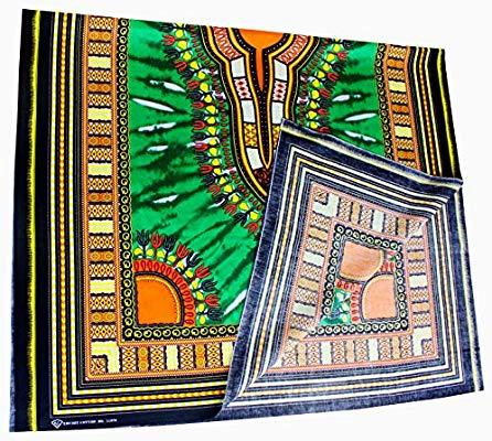 RaanPahMuang Unstitched African Dashiki Tie Dye Printed.