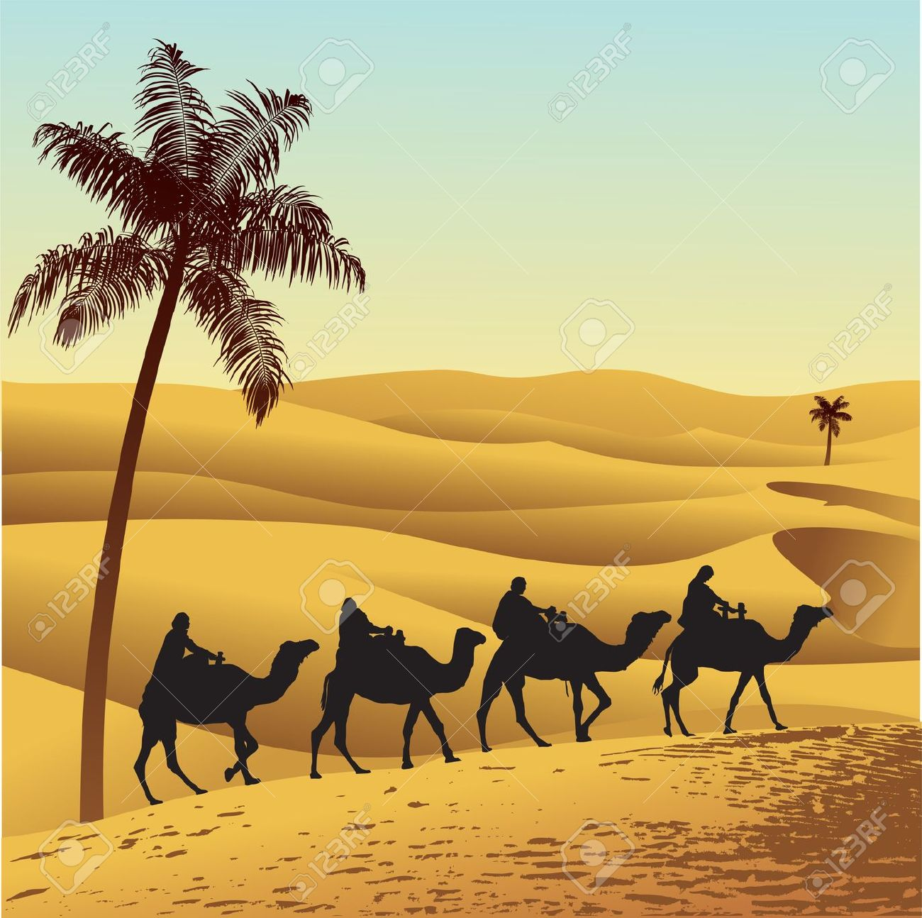 Sahara Desert Clipart Black And White.