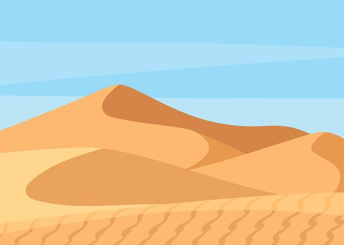 Sahara Desert Landscape Vector.
