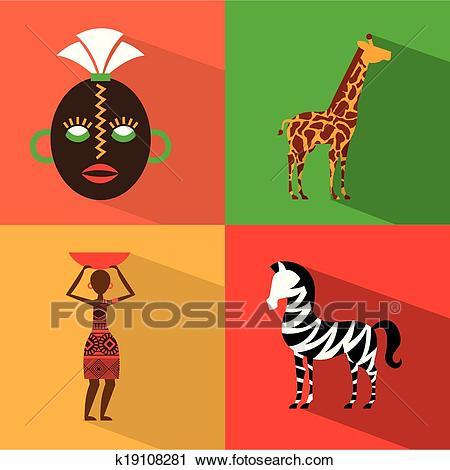 Africa design Clipart.