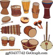 African Drum Clip Art.