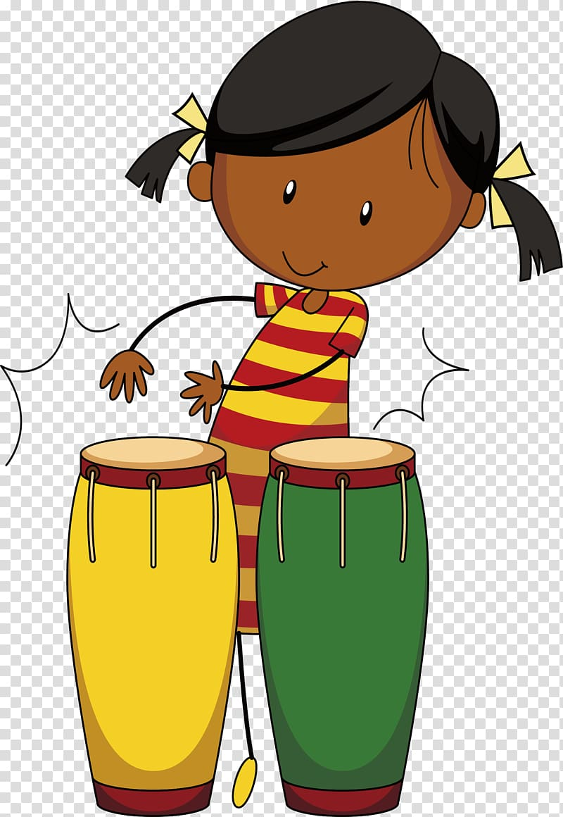 Drummer , Beat African drums transparent background PNG.