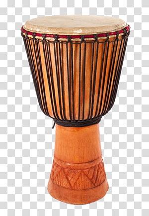 Africa Tambourine Drum, Common African tambourine transparent.