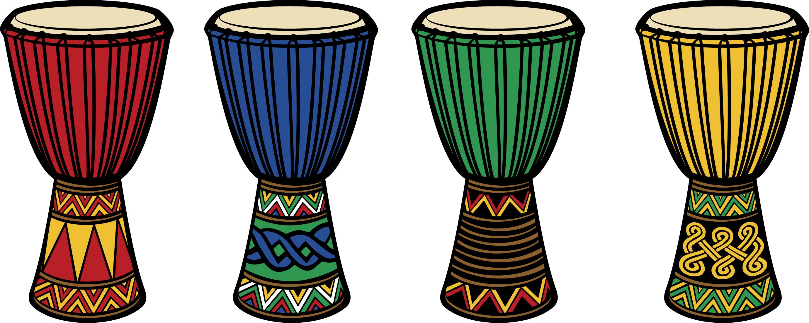 African drums clipart.