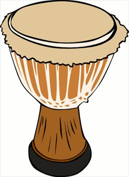 African Drum Clipart.