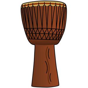 African Drum Free Vector.