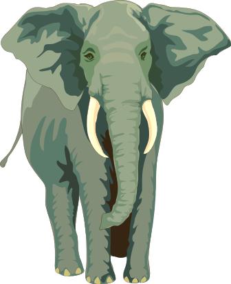 African elephant clipart.