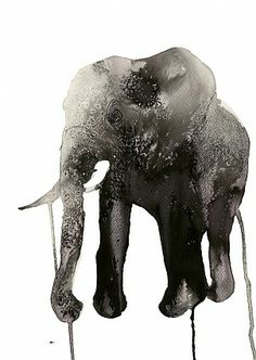 Watercolor Painted Elephants Clipart Elephant Commercial use.