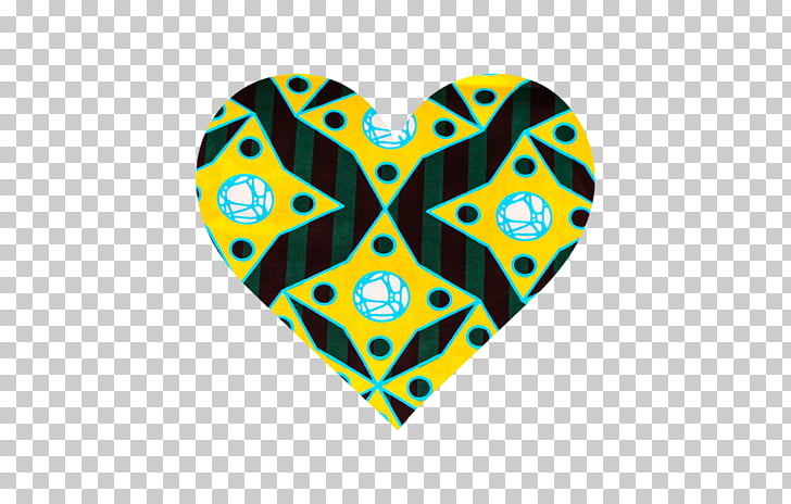 Line Heart Font, african fabric PNG clipart.