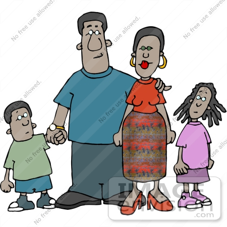 Family Clip Art African American.