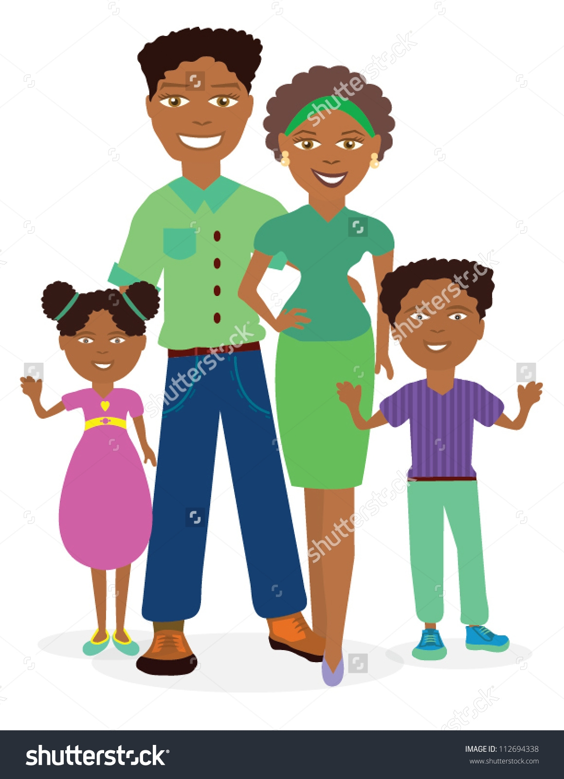 African Family Clipart.