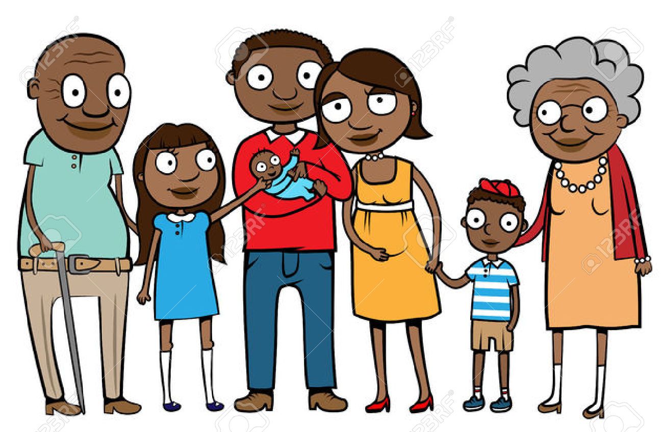 African Family Clipart