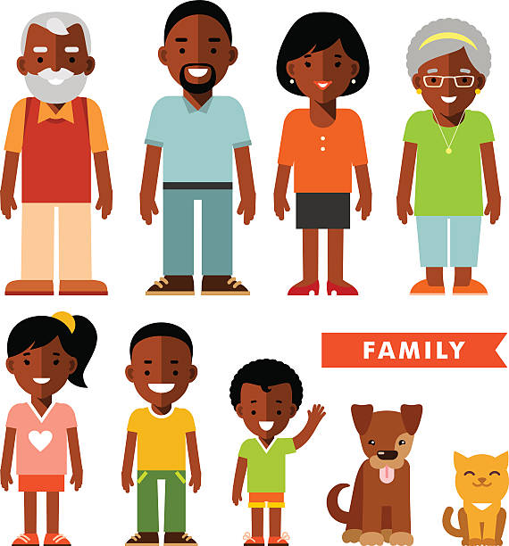 African Family Clip Art, Vector Images & Illustrations.