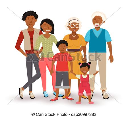 African american family Clip Art Vector Graphics. 584 African.
