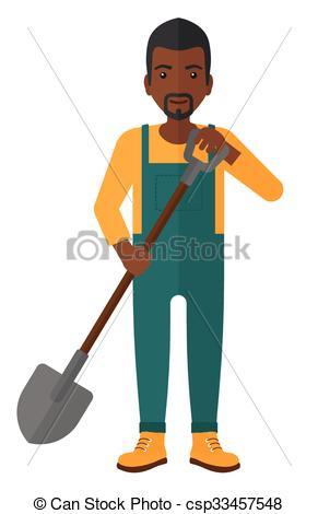 Farmer with spade..