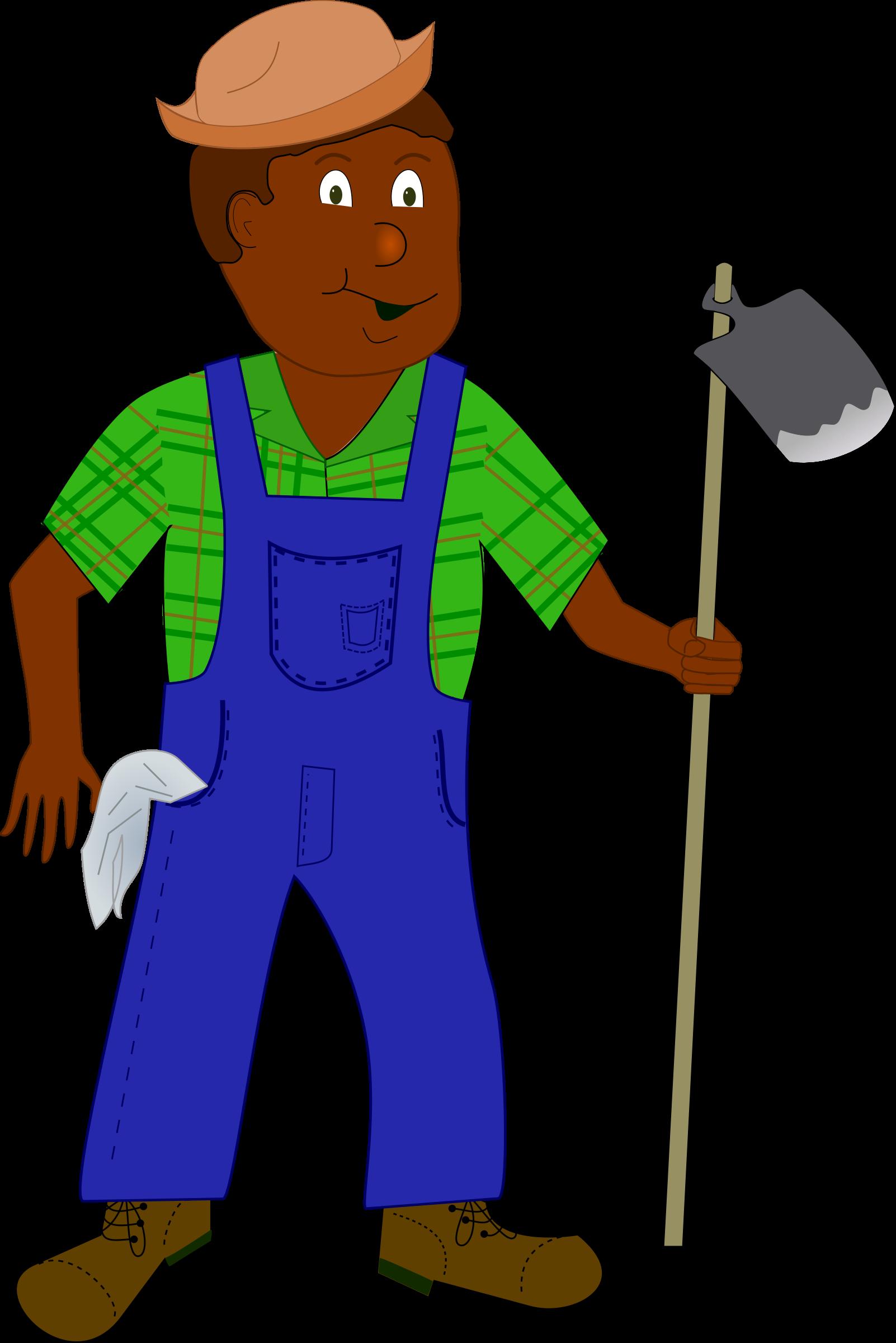 African Farmer Clipart.