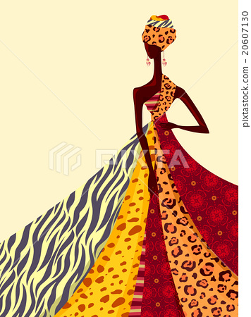 African Fashion Silhouette.