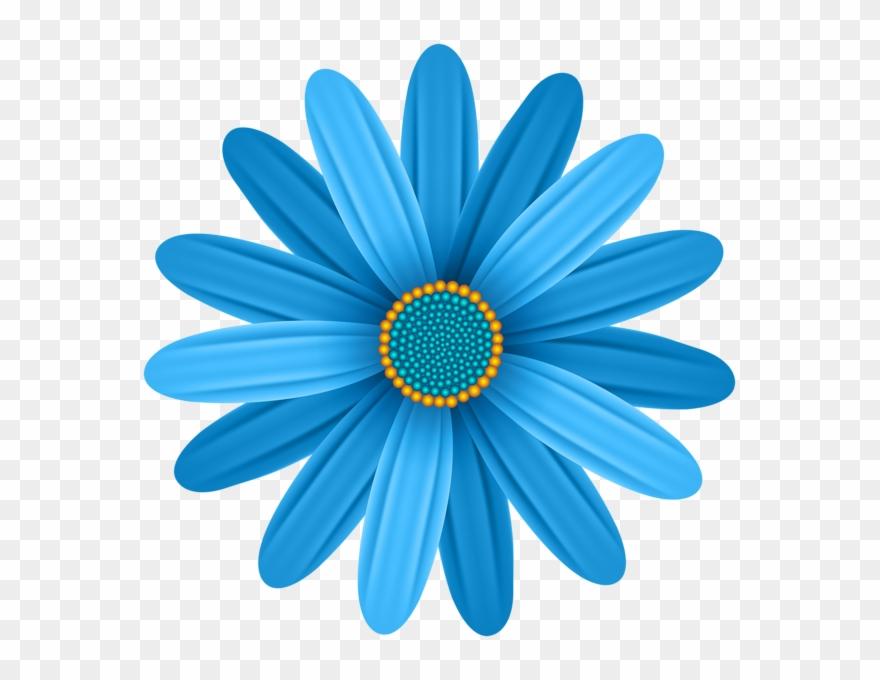 Blue Flower Transparent Png Clip Art Image.