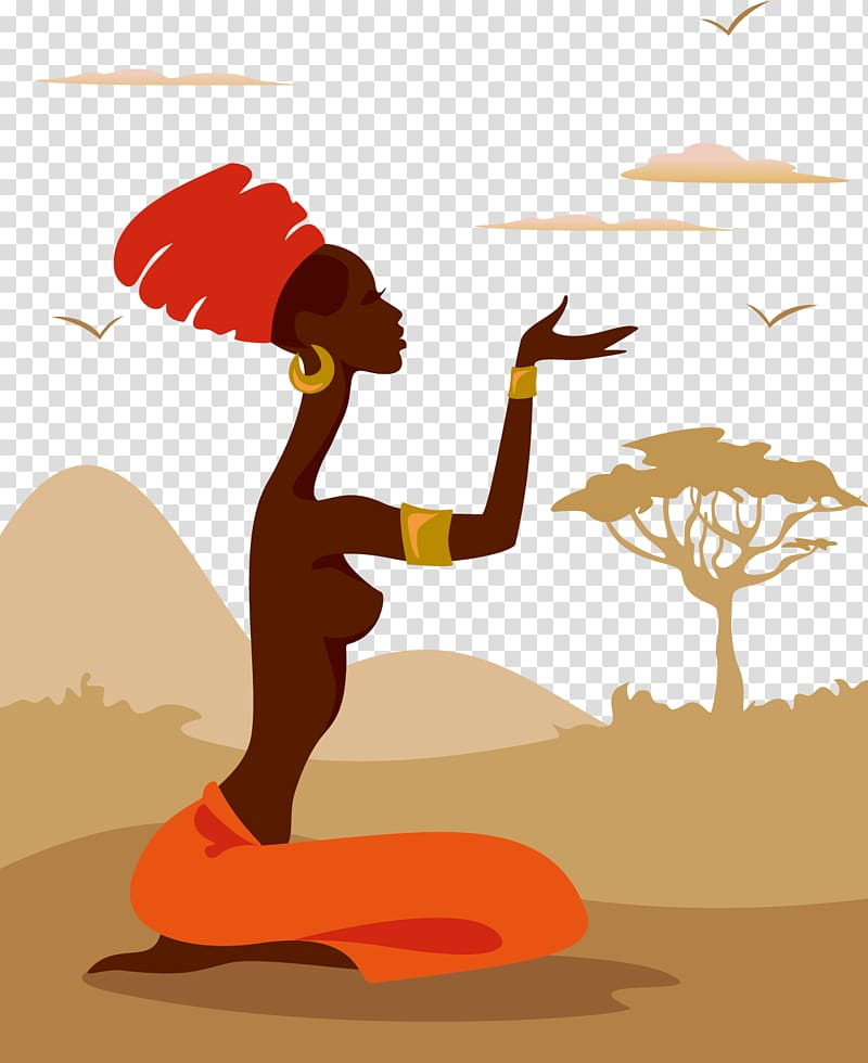 Native female graphic, Silhouette Woman African American.