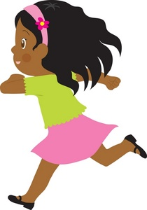 African American Teenage Girl Clipart.