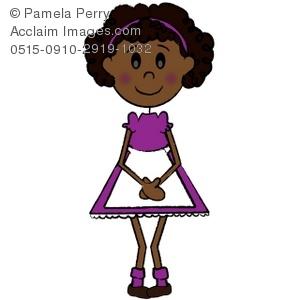Shy African American Girl Royalty.