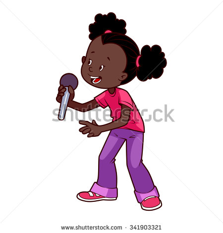 African American Girl Clipart.