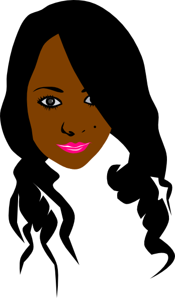 African Can American Girl. Clip Art at Clker.com.