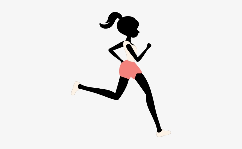 Clip Art Black And White Library Female Runner Silhouette.