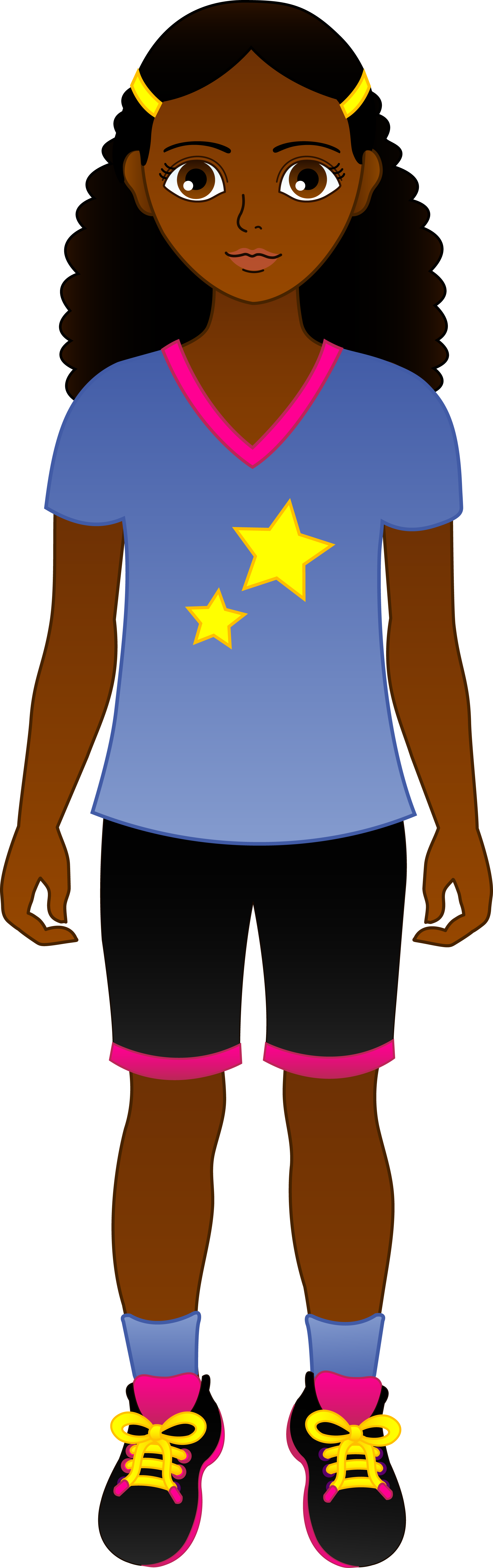 Clipart african american girl.