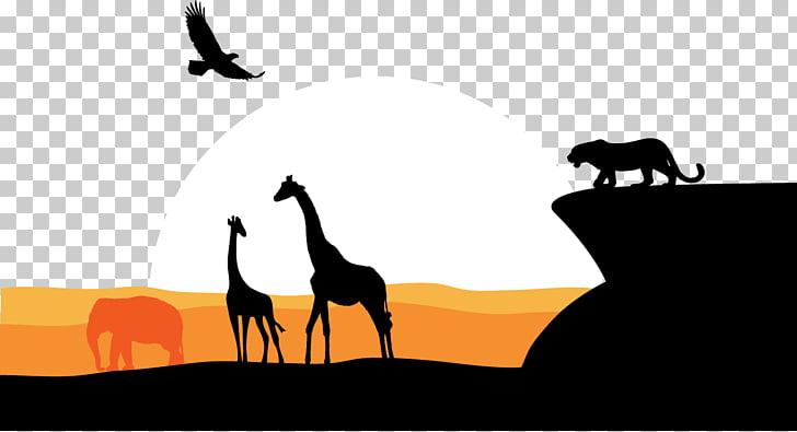 South Africa Graphic design, African Cheetah Giraffe Eagle.