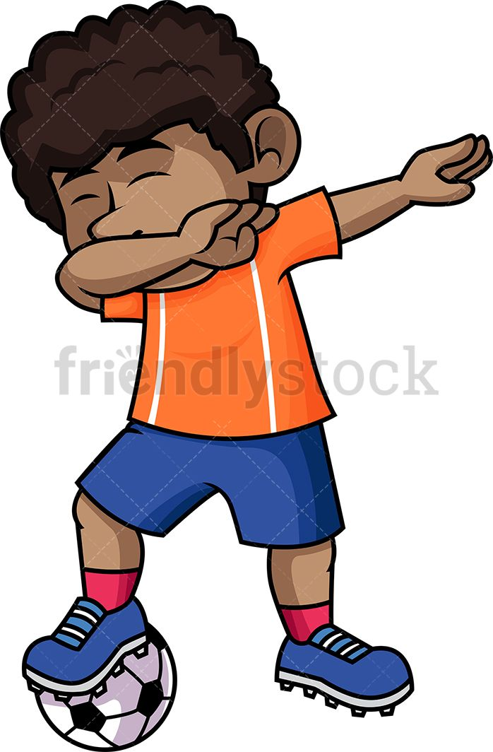 Black Soccer Boy Dabbing.