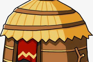 African Hut Yellow Africa Clipart » Clipart Station.