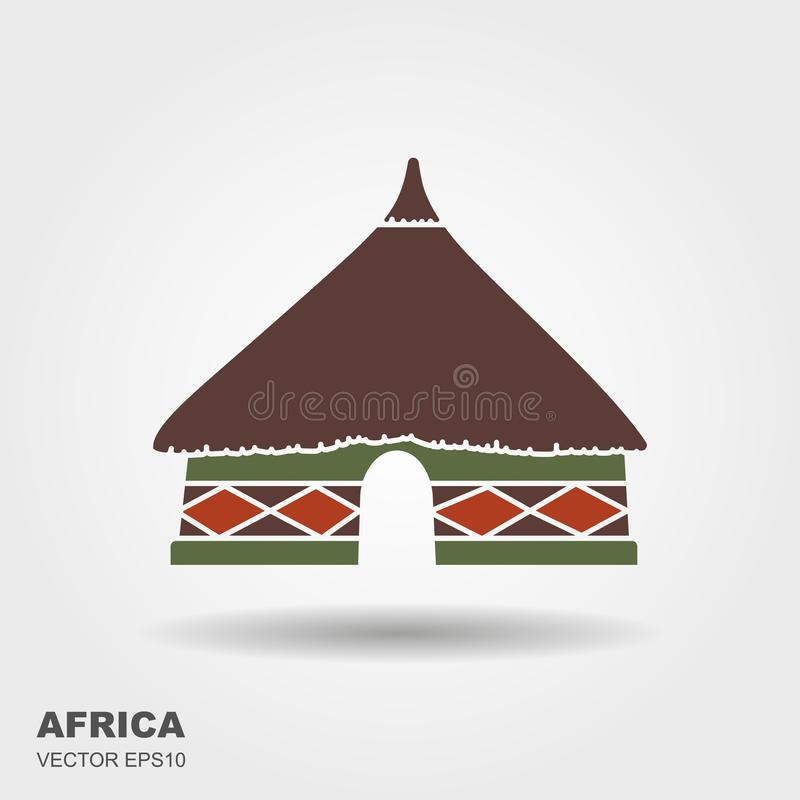 African Hut Silhouette Stock Illustrations.