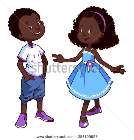 African Child Clipart.