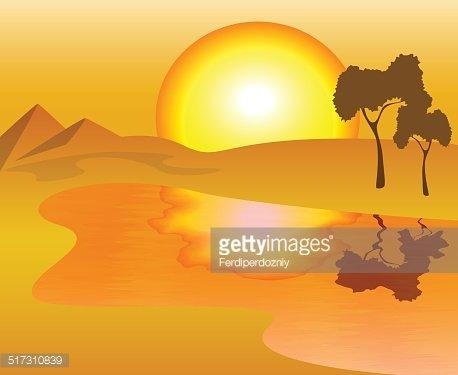African Landscape premium clipart.
