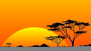 African Landscape Clipart.