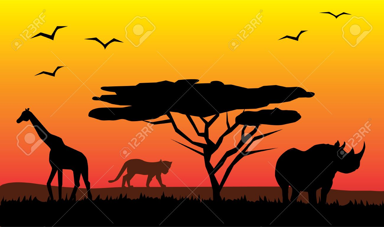 african landscape.