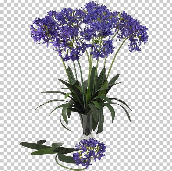 Nearly Natural African Lily With Urn Artificial Flower PNG.