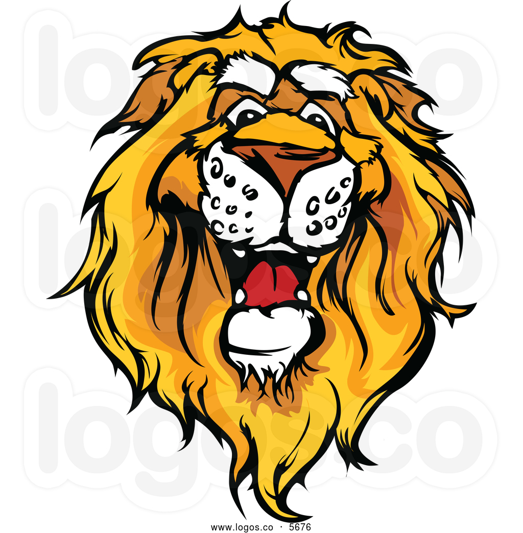 African lion head clipart.