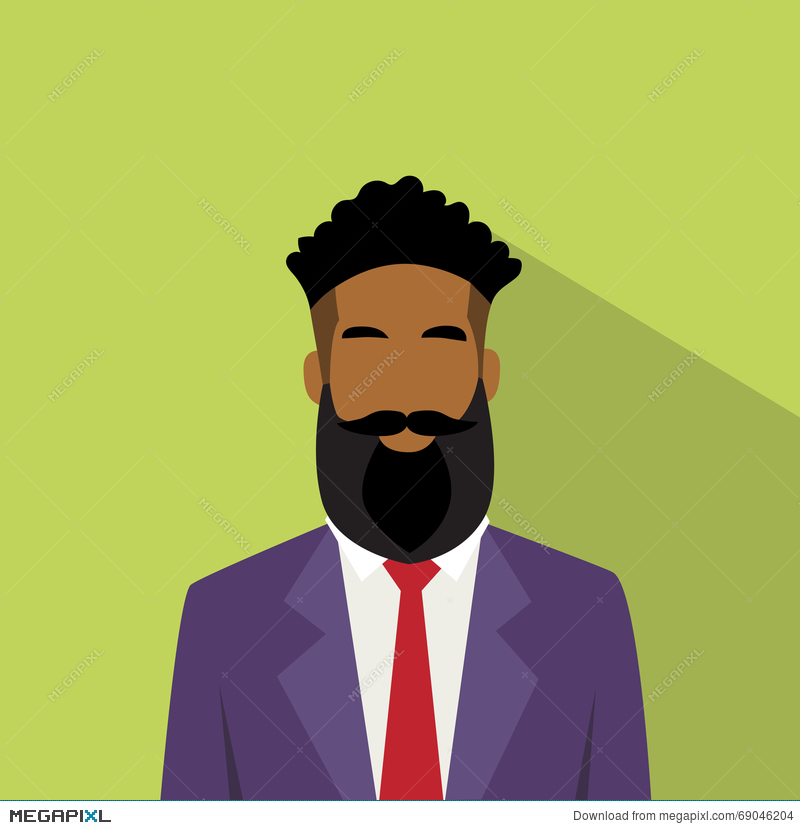 Business Man Profile Icon African American Ethnic Male.