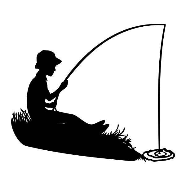 696 Fisherman free clipart.