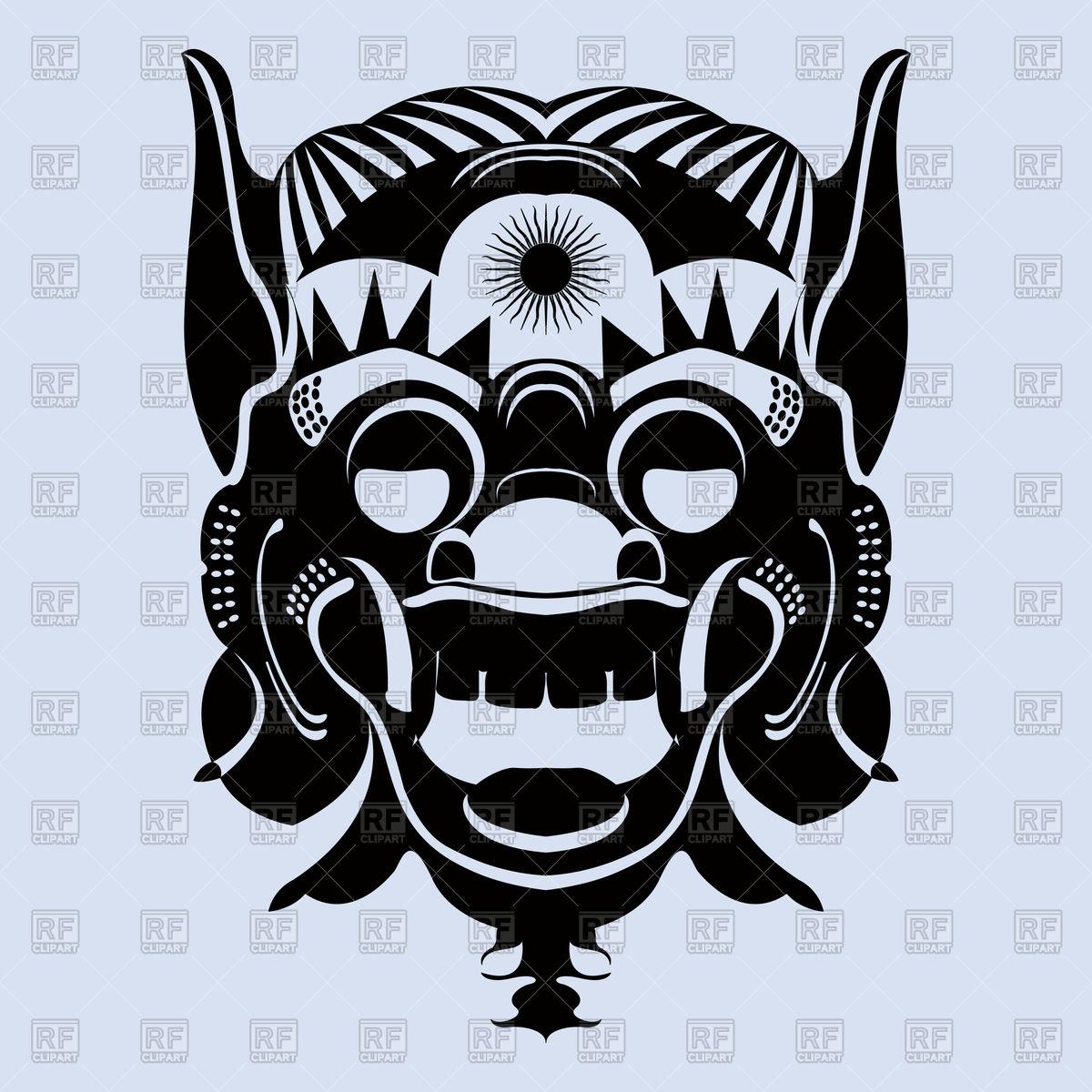Tribal ritual mask.