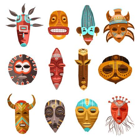 4,220 African Mask Cliparts, Stock Vector And Royalty Free African.