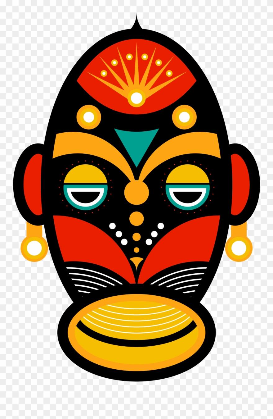African Mask Clip Art.