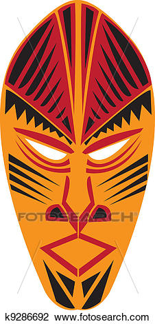 Tribal mask. Clipart.