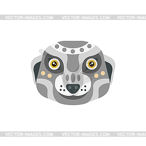 Meerkat African Animals Stylized Geometric Head.