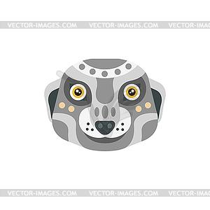 Meerkat African Animals Stylized Geometric Head.