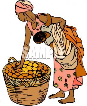 African Mother Clipart.